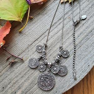 Silver tone LIA SOPHIA necklace